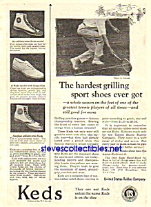1924 KEDS Sneakers TENNIS THEMED Magazine Ad (Image1)
