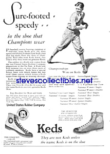 1924 KEDS Sneakers BASEBALL THEMED Magazine Ad (Image1)
