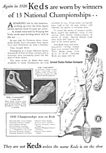 1927 Keds Sneakers Tennis Themed Magazine Ad