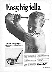 1965 SPALDING Top-Flite Woods GOLF CLUB Ad (Image1)