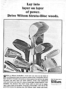 1965 WILSON Strata-Bloc Woods GOLF CLUB Ad (Image1)