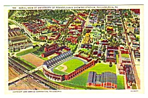 1950s UNIVERSITY OF PENNSYLVANIA STADIUM Postcard (Image1)