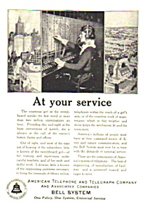1925 At&t Telephone Phone Ad