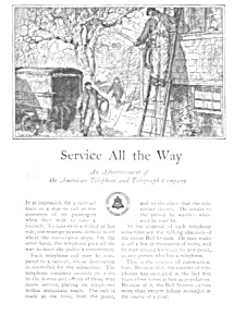 1926 At&t Telephone Phone Ad
