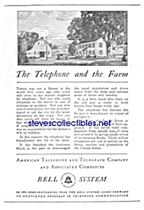 1930 AT&T TELEPHONE Phone Ad (Image1)
