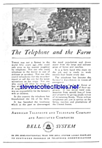 1926 AT&T TELEPHONE Phone Ad (Image1)