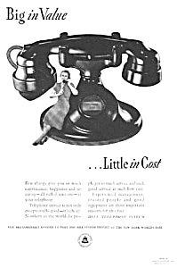 1939 BELL TELEPHONE Old '202' Phone Ad B (Image1)