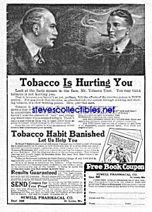 1924 BANISH TOBACCO Snake Oil QUACK Ad (Image1)