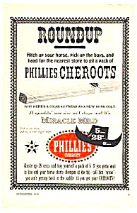 1959 PHILLIES CHEROOTS CIGAR Tobacciana Ad (Image1)