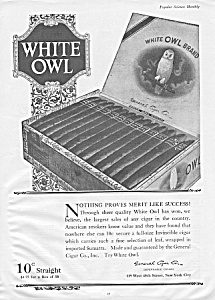 1920 WHITE OWL Cigar Mag. Ad (Image1)