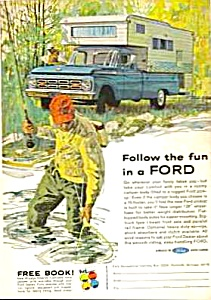 1964 FORD PICKUP CAMPER Truck Magazine Ad (Image1)