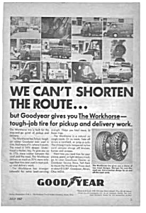 1967 Delivery Trucks Goodyear Mag. Ad