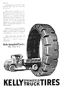 1920 Kelly Springfield Truck Tires Magazine Ad