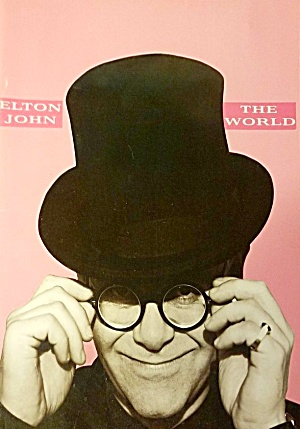 1989 ELTON JOHN Concert Program + Ticket Stub SLEEPING WITH THE PAST TOUR (Image1)