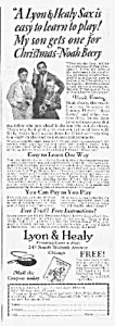 1926 Saxophone Music Room Ad