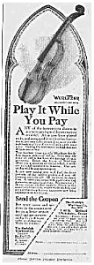1918 Wurlitzer Violin Music Room Ad