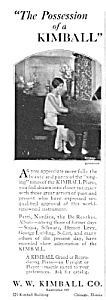 1925 KIMBALL PIANO Music Room Ad (Image1)