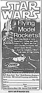 1978 STAR WARS Model Rocket Ad!! (Image1)