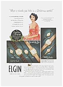 1949 ELIZABETH TAYLOR Elgin Watch Ad (Image1)