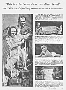 1944 BRIAN DONLEVY Endorsed Gas Refrig. Ad (Image1)