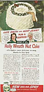 1944 KATE SMITH Spry Christmas Ad (Image1)