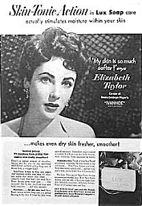 1952 Young ELIZABETH TAYLOR Magazine Ad L@@K! (Image1)