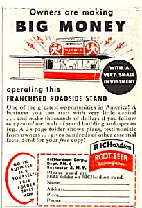 1950 RICHARDSON ROOTBEER Stand Magazine Ad (Image1)