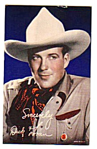 1940s DICK FORAN COWBOY Color Penny Arcade Card (Image1)
