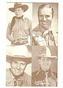 1950s FOUR COWBOY (Autry+) Penny Arcade Card (Image1)