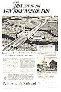 1939 Penn Railroad Ny Worlds Fair Magazine Ad B