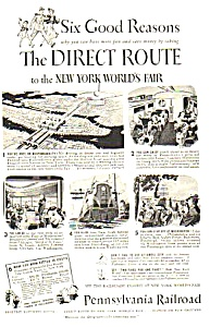 1939 PENN Railroad NY Worlds Fair Magazine Ad C (Image1)
