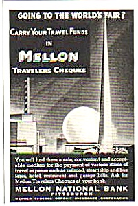 1939 Mellon National Bank NY Worlds Fair Magazine Ad (Image1)