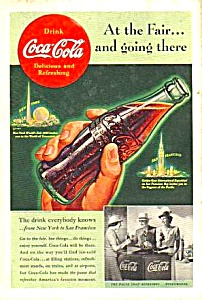 1939 WORLDS FAIR/Coca Cola/Golden Gate EXPO Ad (Image1)