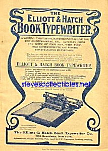 1902 Elliott And Hatch Book Typewriter Ad
