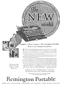 1925 REMINGTON PORTABLE Typewriter Ad (Image1)