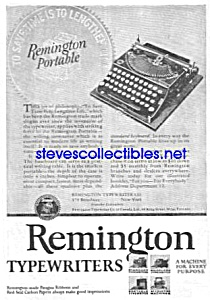 1926 REMINGTON PORTABLE Typewriter Ad (Image1)