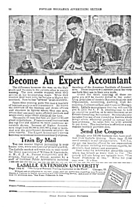 1920 BECOME AN ACCOUNTANT By Mail Magazine Ad (Image1)
