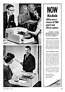 1964 VERIFAX CAVALCADE OFFICE COPIER - Eastman Kodak Ad (Image1)