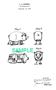 Patent Art: 1950s PIG RAMP WALKER TOY - matted (Image1)