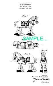 Patent Art: 1950s HORSE RAMP WALKER TOY - matted (Image1)