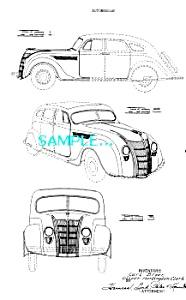 Patent Art: 1935 CHRYSLER AIRFLOW AUTOMOBILE (Image1)