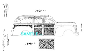 Patent Art: 1940 Plymouth WOODIE WOODY CAR DESIGN-8x10 (Image1)