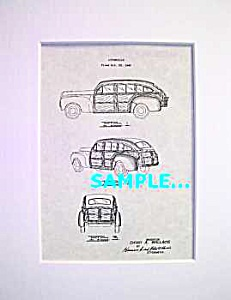 Patent Art: 1942 CHRYSLER TOWN & COUNTRY WOODIE WOODY (Image1)
