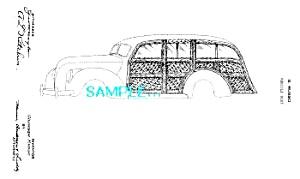 Patent Art: 1930s WOODIE WOODY CAR DESIGN (Image1)