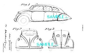 Patent Art: 1933 BRIGGS STREAMLINED DREAM CAR (Image1)