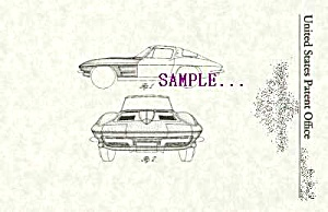 Patent Art: 1963 CHEVY CORVETTE AUTOMOBILE (Image1)