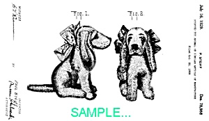 Patent Art: 1920s Steiff Dog - Matted For Framing