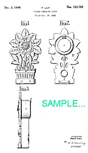 Patent Art: 1940s Lux Sunflower Pendulette Clock