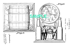 Patent Art: 1930s BREWERIANA CLOCK Design - matted (Image1)