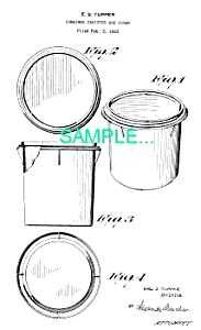 **Patent: 1950s TUPPERWARE CANISTER** (Image1)